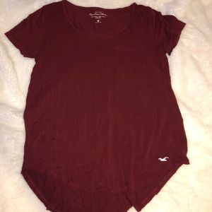 Hollister Tops - Burgundy short sleeve shirt